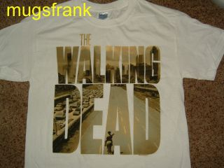 The Walking Dead TV Show Logo Zombie White Shirt