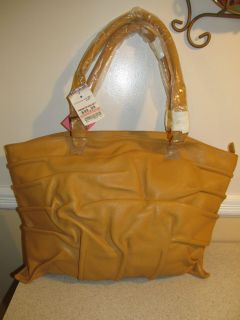 DONNA DIXON EXTRA LARGE MUSTARD LEATHER TOTE OR SHOULDER BAG NEW WITH