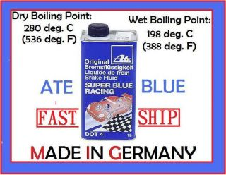 EDM Ate Racing Brake Fluid Super Blue Dot 4 High Performance High Temp