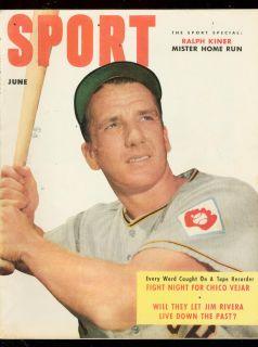 Sport Magazine 6 1952 Ralph Kiner Ben Hogan Dizzy Dean FN