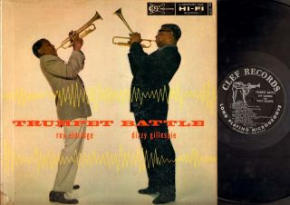 JAZZ LP Roy Eldridge Dizzy Gillespie TRUMPET BATTLE on CLEF 730