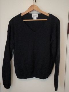 Womens Christopher Banks Navy Blue Sweater Size M VGUC Very Nice