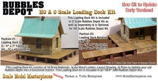 Loading Dock Kit Yorke Scale Model Masterpiece Rubbles Depot HOn3