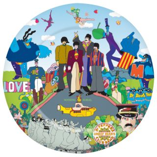 the beatles yellow submarine melamine plate 35184 the beatles