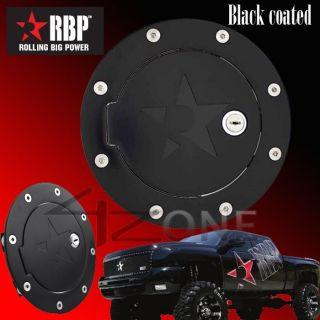 RBP Billet Black Fuel Gas Door w Lock 02 08 Dodge RAM 1500