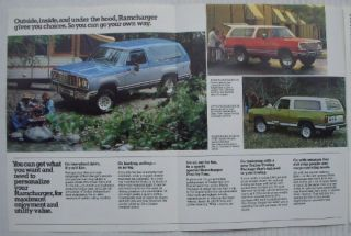 Mopar Dealer Brochure 1978 Dodge Ramcharger 78