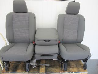 06 07 08 Dodge Ram Power bucket seats with folding center seat Gray