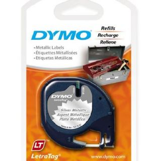 Dymo LetraTag 91338 Metallic SILVER Label Refill Tapes Letra Tag, LT
