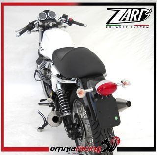 Zard Exhausts Polished Steel Racing Mufflers Moto Guzzi V7 Cafe Racer