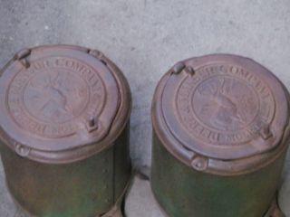 antique John Deere & Mansur horse drawn planter boxes farm primitive
