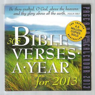 2013 365 BIBLE VERSES A YEAR Daily Box Block Desk Calendar