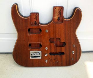 RARE MIGHTY MITE DOUBLE NECK GUITAR BODY BASS 6 STRING STRATOCASTER