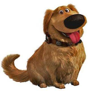 Pixar Studios UP Animated Movie DUG Dog Window Cling Sticker NEW