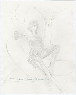 Clarke Hawbaker Original Viper Drawing Good Girl Art 1994