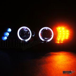 Piano Black Smoke Lens 97 03 525i 530i Halo Projector Headlight LED