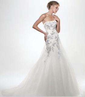 High Quality New Wedding Bridal Dress Discount Brides Applique Gown