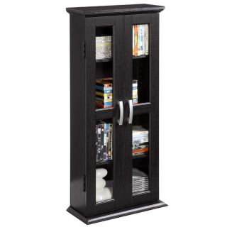 New Contemporary Wood DVD Media Blu Ray Storage Tower