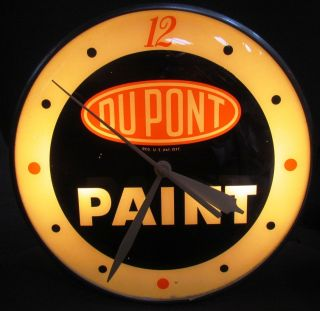 RARE Dupont Paints Clock Paint