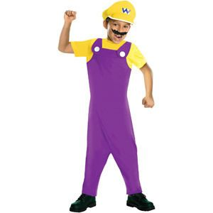 Halloween Dress Up Boys Mario Bros Wario Costume Size Medium 8