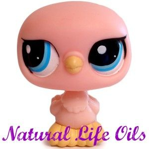Littlest Pet Shop~#2187 PASTEL PINK DOVE PIGEON BIRD Blue Eyes~K680