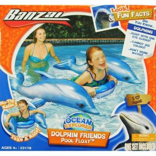 Dolphin Friends Inflatable Swimming Pool Rider Fun Float Toy 44 x 40 x