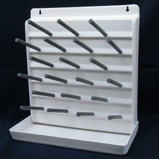 Drying Rack Drain 21 Peg Board Lab Test Tubes, Glassware, Homebrewing