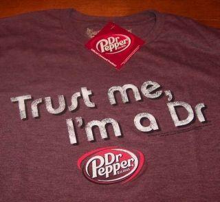 Vintage Dr Pepper Soda IM A Doctor T Shirt Medium New w Tag