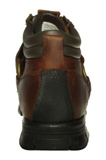Polo Ralph Lauren Mens Ankle Boots Conquest III Mid Brown Leather Sz 9