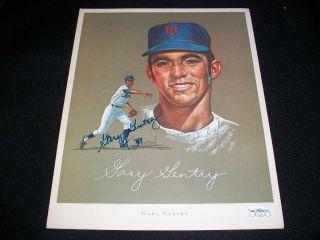 Auto Signed 1969 Mets Citgo John Wheeldon Print JSA Stamp N