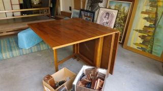 Mid Century Danish Modern drop leaf gateleg Dining Table after Bruno