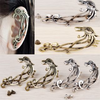 Wholesale 1 10pcs Phoenix Animal Flower Ear Cuff Stud Earrings