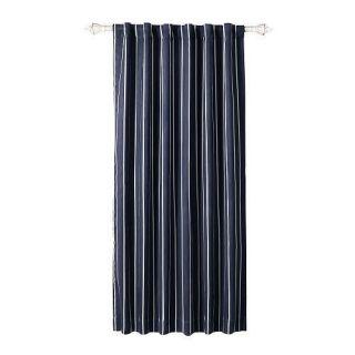 NIP BabiesRus Window Curtain Panel Navy Blue Stripe Baby Boy Childrens