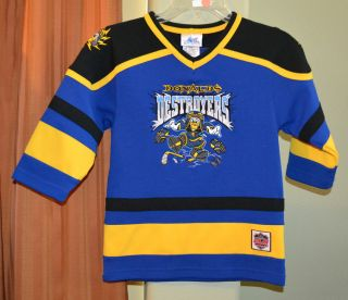 Disney Donald Duck Destroyers 34 Disneyland Hockey Jersey Shirt Youth