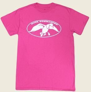 New Duck Commander Duck Dynasty Hot Pink T Shirt with White Logo