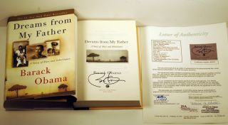 president barack obama signed dreams from my father hardcover book jsa