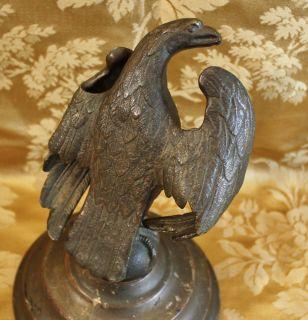 Antique Bronze Eagle Figure Statue Desk Sculpture