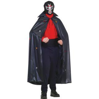 Black Luchador Lucha Libre Dress Up Halloween Adult Costume