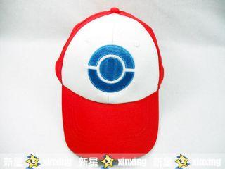 Pokemon Ash Ketchum Costume Cosplay Hat Visor Cap Blue