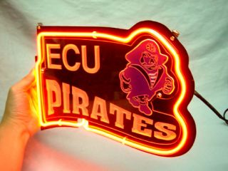 East Carolina ECU Pirates Beer Bar Neon Light Sign SD271
