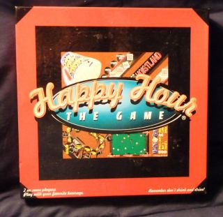 Happy Hour The Game Board Game 1997 Complete Drinking