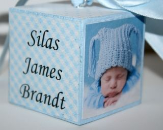 Babys First Christmas Ornament Personalized 2012 Photo Ornament Boy
