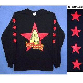 Steve Earle Stars Logo 2008 Tour Blk Long Sleeve Shirt 2XL XXL New