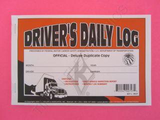 50 Pack of Duplicate Drivers Daily Log Book JJ Keller 601L