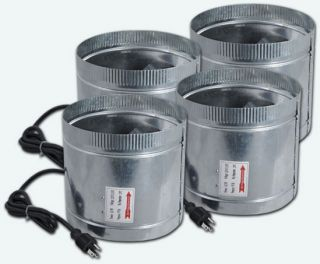 4X 8 inch 400CFM Duct Fan Booster Inline Cool Air Blower Vent 4X F006