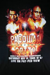 Pacquiao Cotto Boxing Media Day Shirt for Firepower