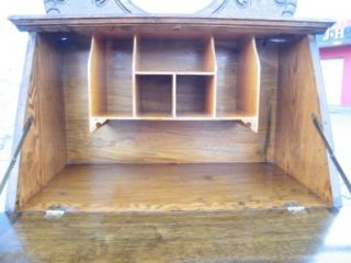 Circa 1895 Choice Oak Ladies Drop Front Secretary Desk with Oval