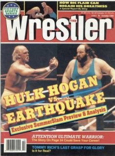 The Wrestler Magazine Oct 1990 Hulk Hogan vs Earthquake