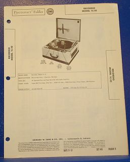 1951 Dumont Television Technical Information Brochure