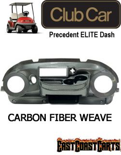 Club Car Precedent Golf Cart ELITE Radio Dash Carbon Fiber Weave