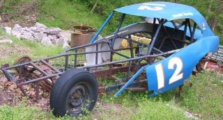 Vintage Stock Car Ebersole Frame & Camaro Body Straight Axle
